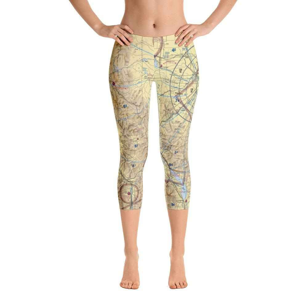 Great Falls Sectional Capri Leggings - RadarContact