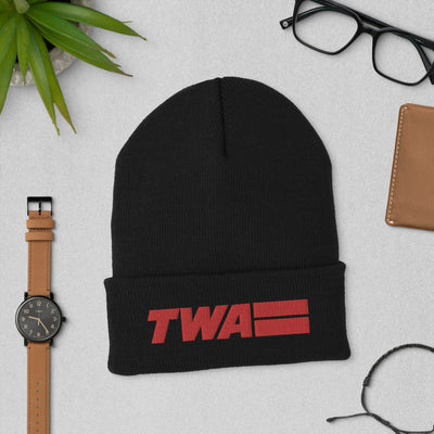 TWA Embroidered Cuffed Beanie - RadarContact