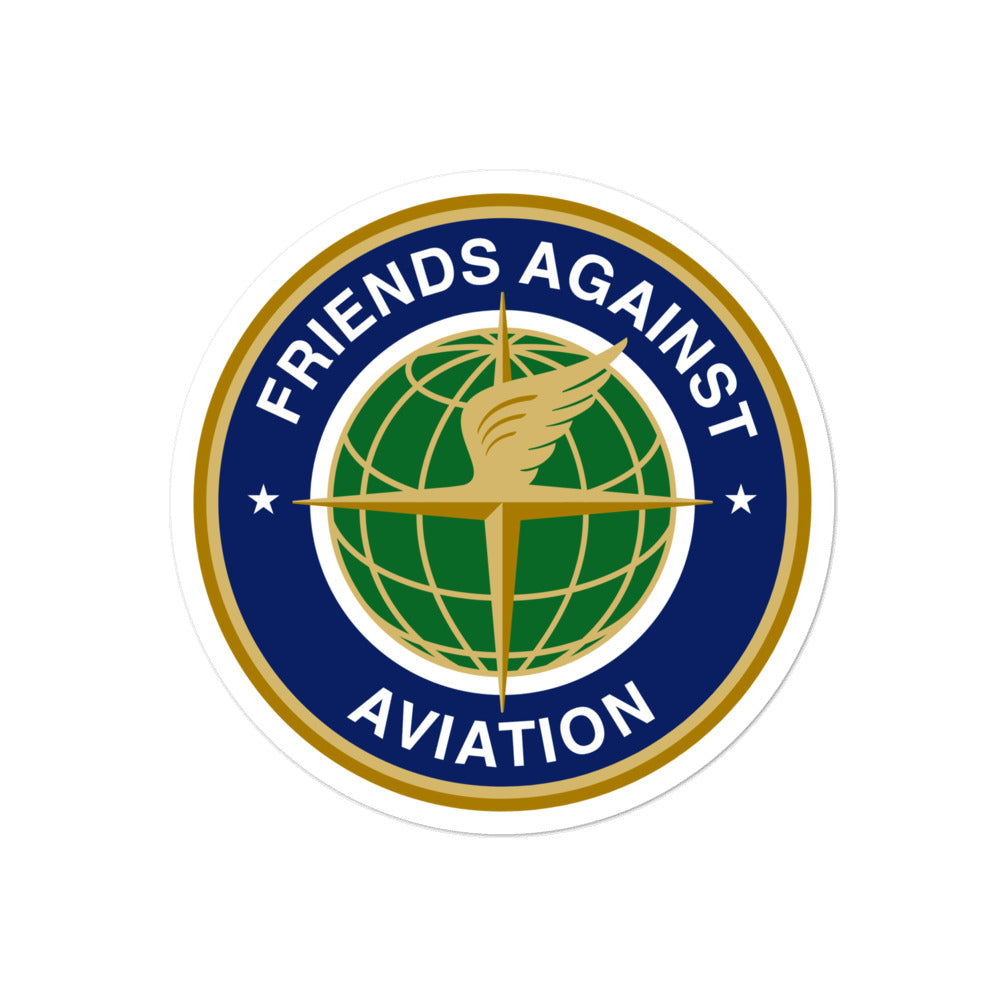 Friends Against Aviation Sticker - RadarContact