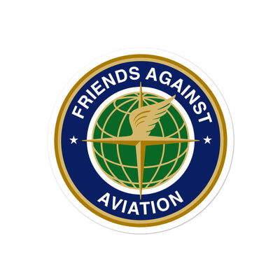 Friends Against Aviation Sticker