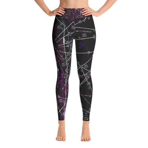 West Palm Beach Low Altitude Yoga Leggings (Inverted)