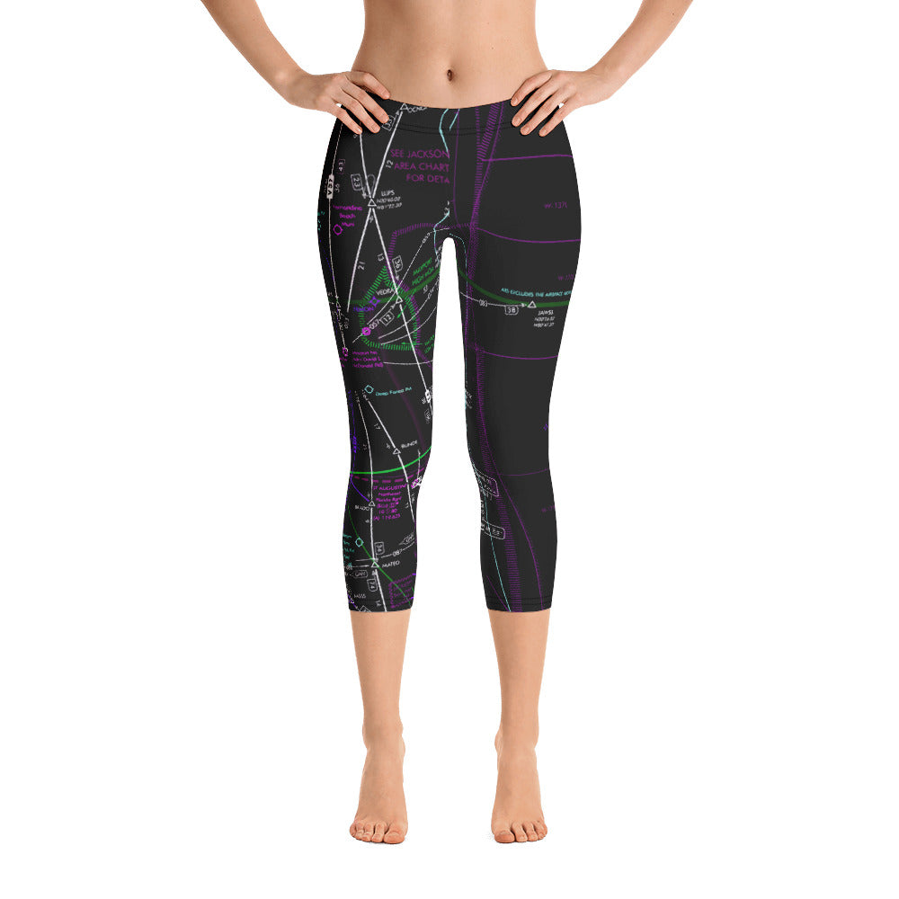 Jacksonville Low Altitude Capri Leggings (Inverted)
