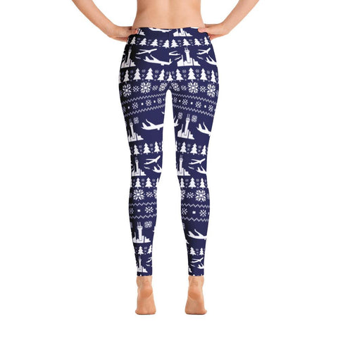 Ugly Aviation Christmas Leggings (Blue)