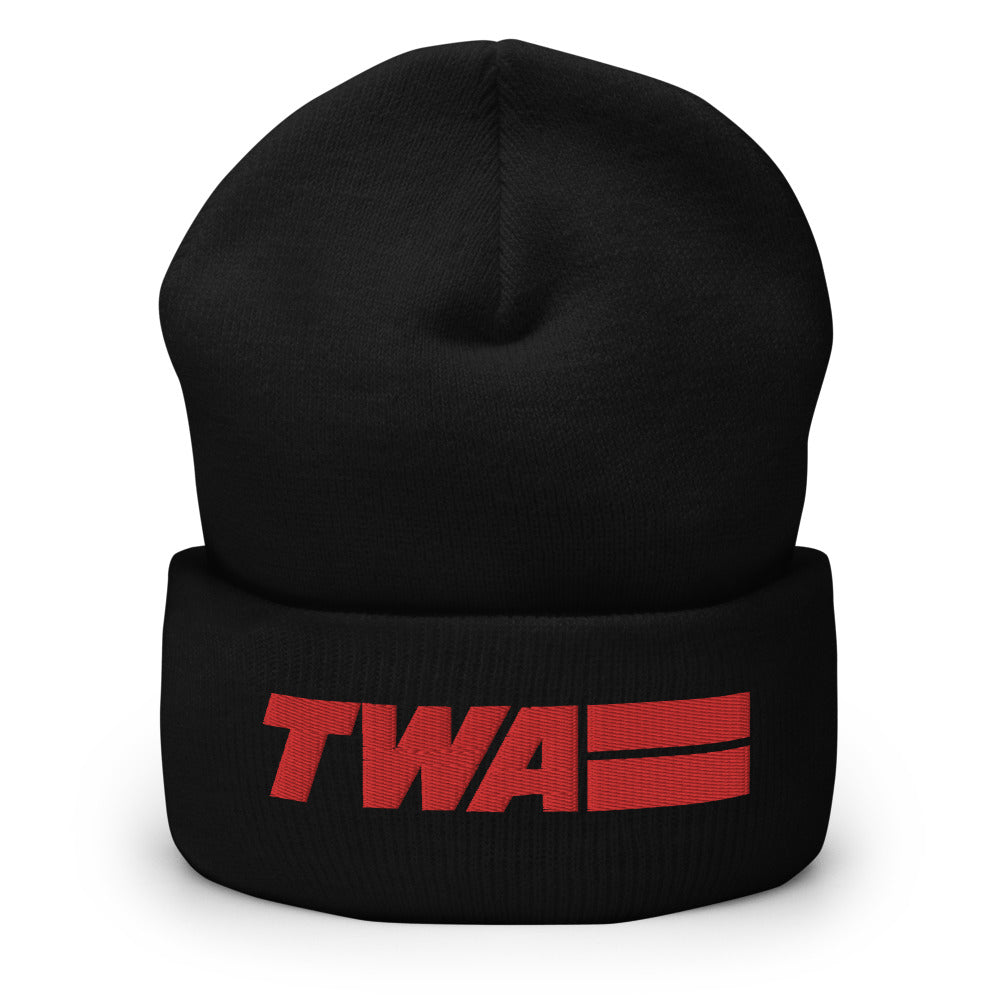 TWA Embroidered Cuffed Beanie