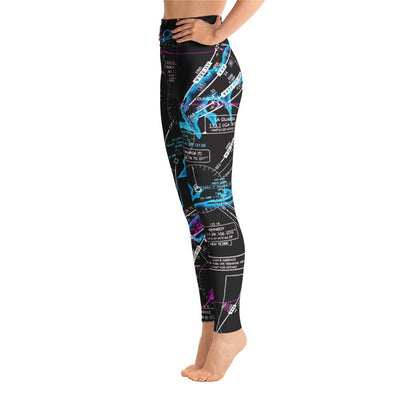 New York Low Altitude Yoga Leggings (Inverted) - RadarContact