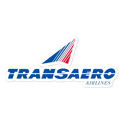 Retro Transaero Sticker