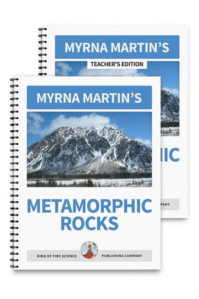 Metamorphic Rocks Book Plus Teacher's Edition - Kids Fun Science Bookstore
