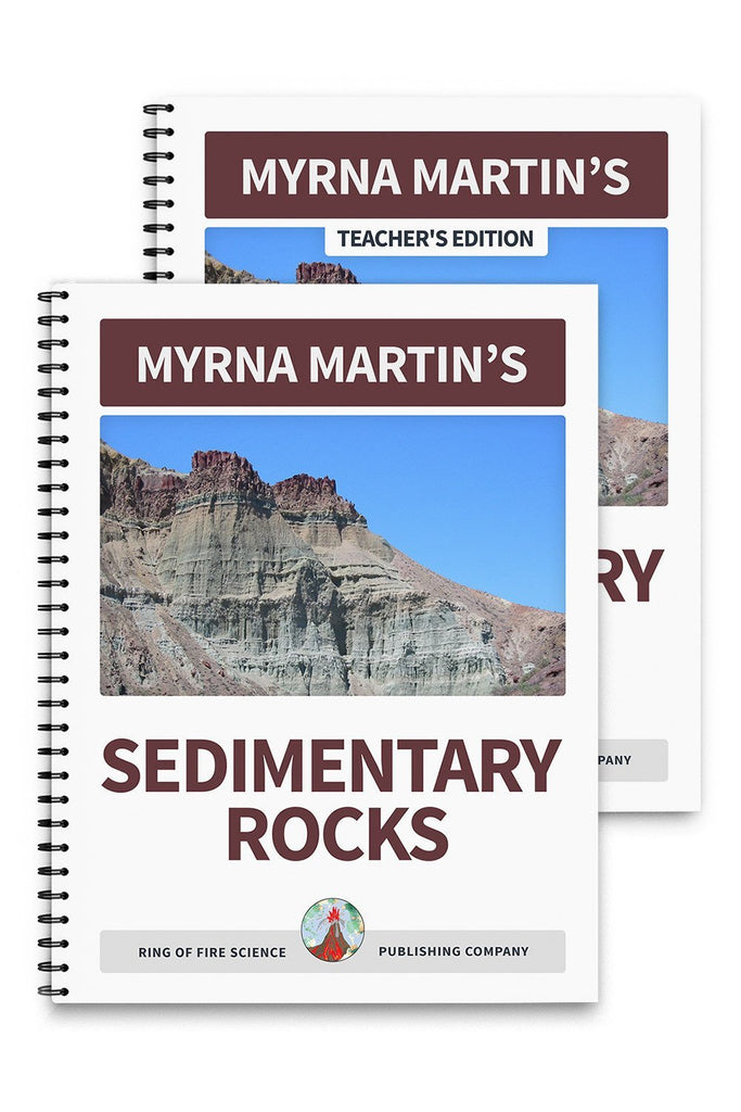 Sedimentary Rocks Book Plus Teacher's Edition - Kids Fun Science Bookstore
