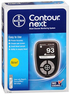 Bayer Contour Next Meter for use with diabetic supply test strips.