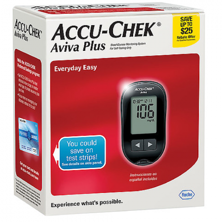 Accu-Chek Aviva diabetes glucose monitor from NYC Diabetes Supplies