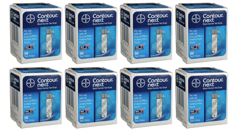 400 Bayer Contour Next Test Strips mail order diabetic supplies from NYC Diabetes Supplies.
