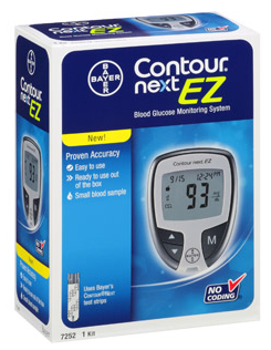Bayer Contour Next EZ Blood Glucose Machine from NYC Diabetes Supplies