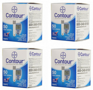 200 Bayer Contour diabetic supply test strips from our diabetic supply company.