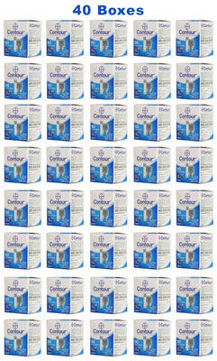 40 boxes Bayer Contour Insulin Test Strips from our mail-order diabetic supply company..