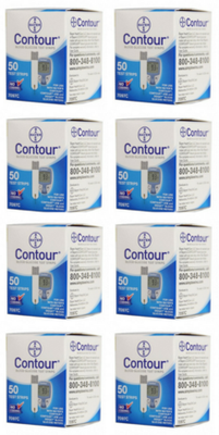 Mail order diabetic supplies Bayer Contour Test Strips boxes from NYC Diabetes Supplies.