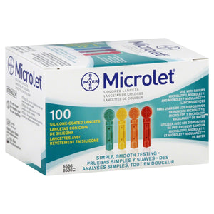 100 Microlet Colored Blood Glucose Lancets from NYC Diabetes Supplies