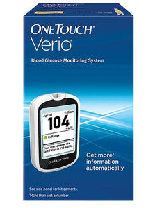 OneTouch Verio diabetes monitor for us with OneTouch test strips for sale.
