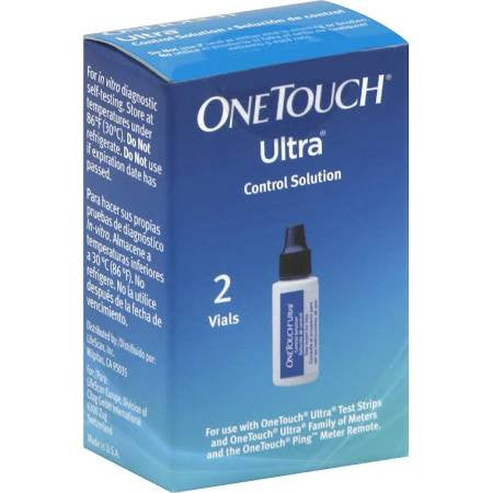One Touch Ultra Control Solution for ensuring your blood glucose machine is working properly