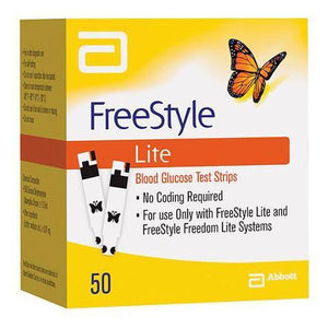 50 Abbott Freestyle Lite diabetic supply test strips from NYC Diabetes Supplies