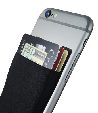 CARDNINJA SMARTPHONE WALLET CARD HOLDER - FLEXIBLE WALLET ADHERES TO MOST SMARTPHONE CASES - HOLDS UP TO 8 CARDS - BLACK