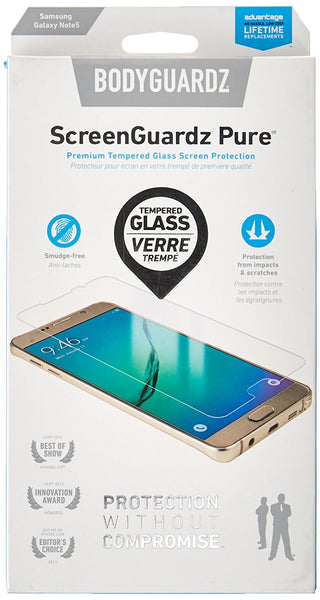 BodyGuardz ScreenGuardz Pure Protectors For Samsung Galaxy Note 5
