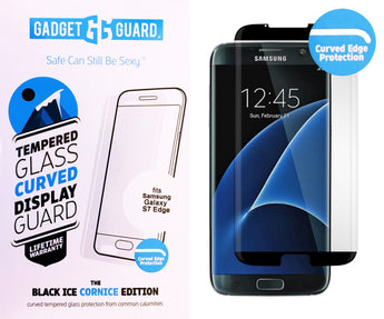 GADGET GUARD BLACK ICE EDITION TEMPERED GLASS SCREEN GUARD FOR SAMSUNG GALAXY S7