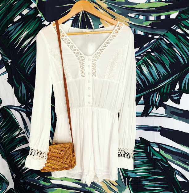 White Summer Romper