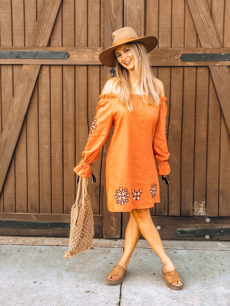 California Poppy Dress