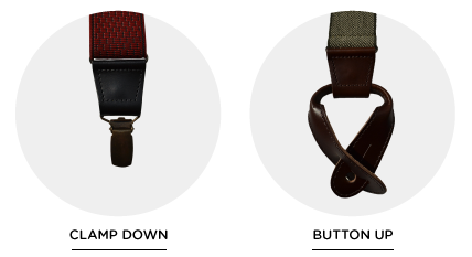 different types of suspenders attachments