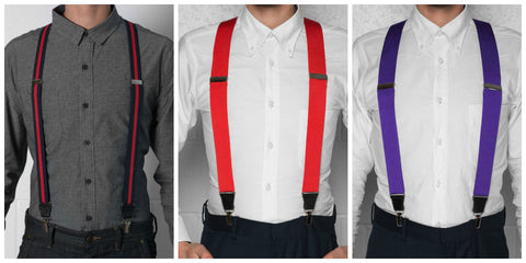 different types of suspenders side by side