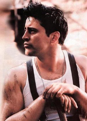 matt leblanc in suspenders and a tank top