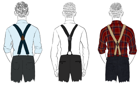 two types of suspenders shapes