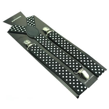 black polka dot suspenders