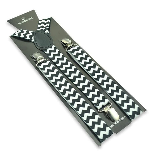 black and white zigzag suspenders