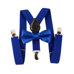blue toddler suspenders