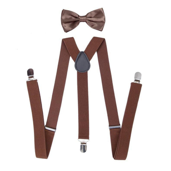 brown boys suspenders