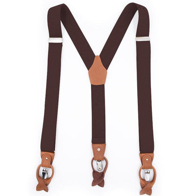 brown convertible suspenders