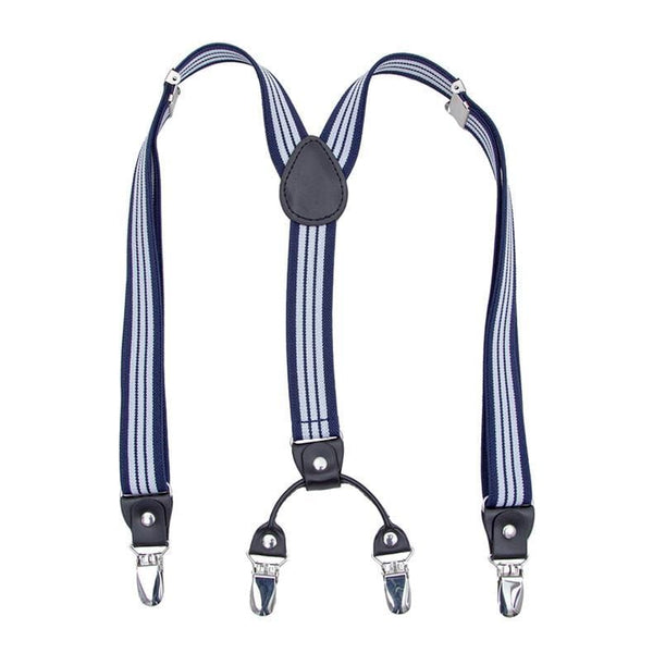 classic striped blue suspenders