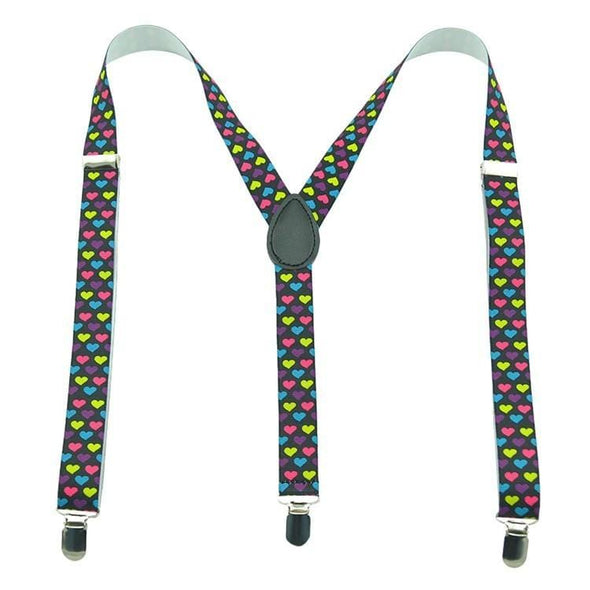 colorful hearts suspenders
