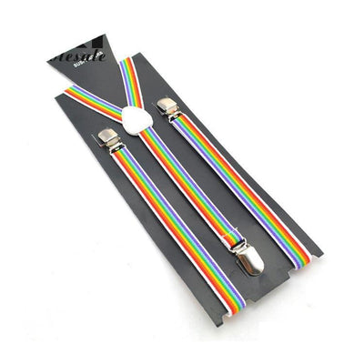 striped colorful suspenders