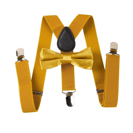 gold toddler suspenders