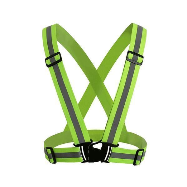 green reflective suspenders