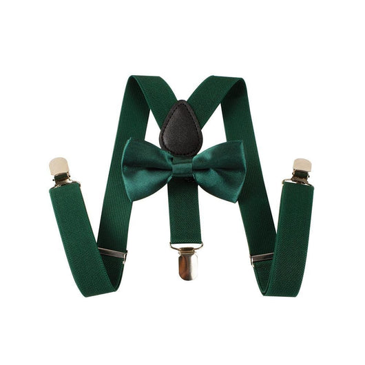 green toddler suspenders