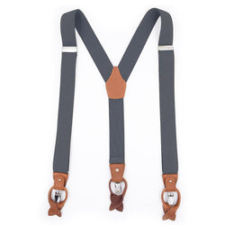 grey convertible suspenders