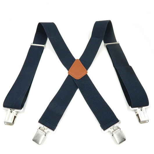 navy blue logger suspenders