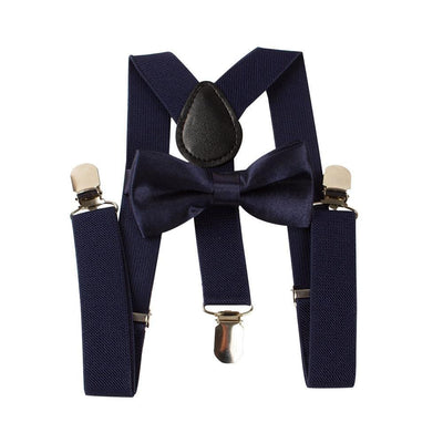 navy blue toddler suspenders