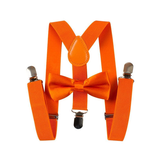 orange toddler suspenders