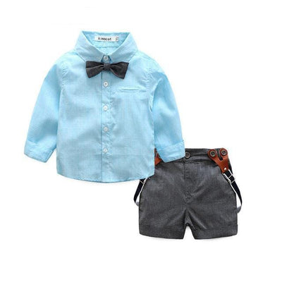 Toddler Suspenders & Shorts Outfit