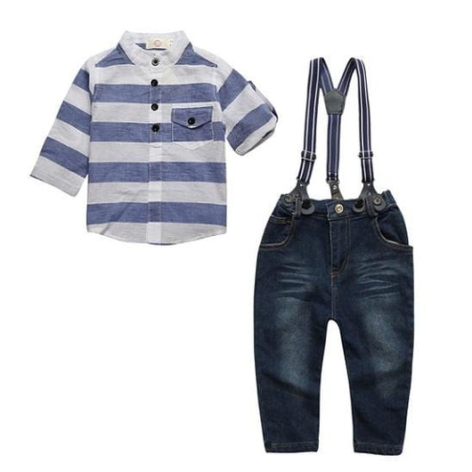 Boys Jeans & Suspenders Outfit