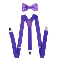 purple boys suspenders